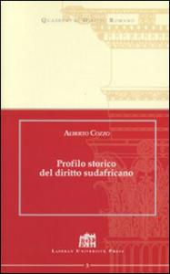 Profilo storico del diritto sudafricano Alberto Cozzo