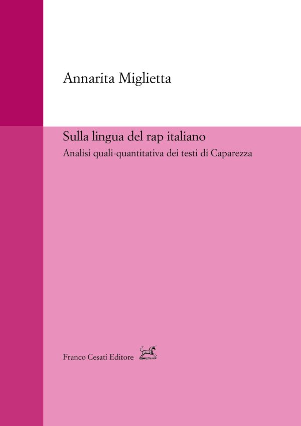 """""""Sulla lingua del rap italiano. Analisi quali-quantitativa dei testi di Caparezza"""" di Annarita Miglietta"""