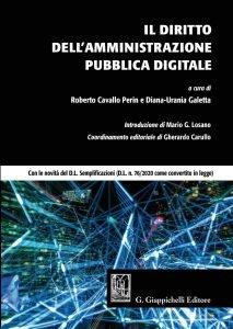 Il Diritto dell'Amministrazione Pubblica digitale, Roberto Cavallo Perin, Diana-Urania Galetta
