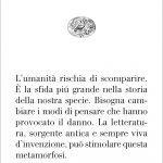 """""""La letteratura ci salverà dall'estinzione"""" di Carla Benedetti"""