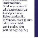 """""""Moderno Antimoderno"""" di Cesare De Michelis, a cura di Giuseppe Lupo"""