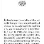 """Siate materialisti!"" di Ingrid Paoletti"